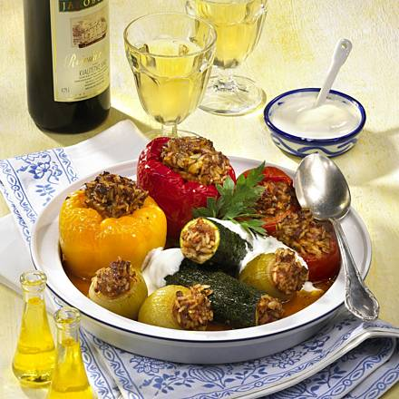 Colorful Dolma (Stuffed Vegetables)