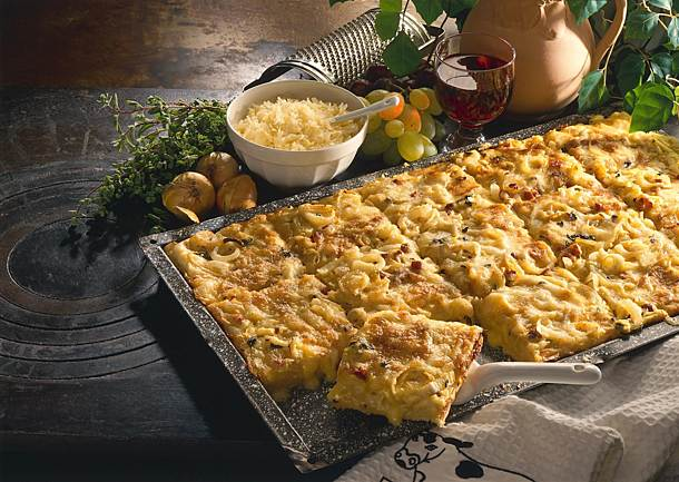 Cheese and onion cake