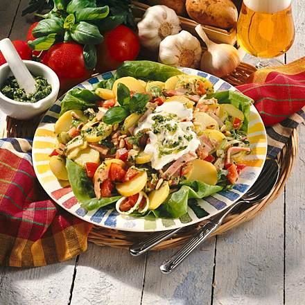 Potato salad with pesto