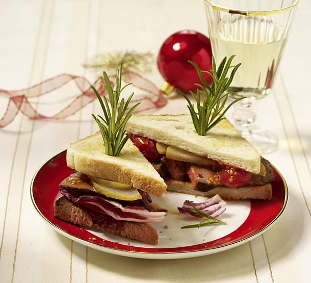Savory steak sandwich