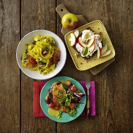 Turkey saltimbocca with salad