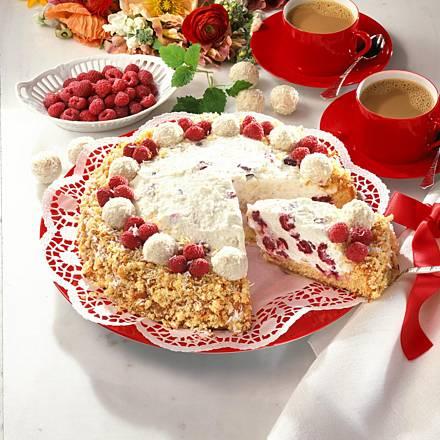 Raffaello raspberry cake (12 pieces)