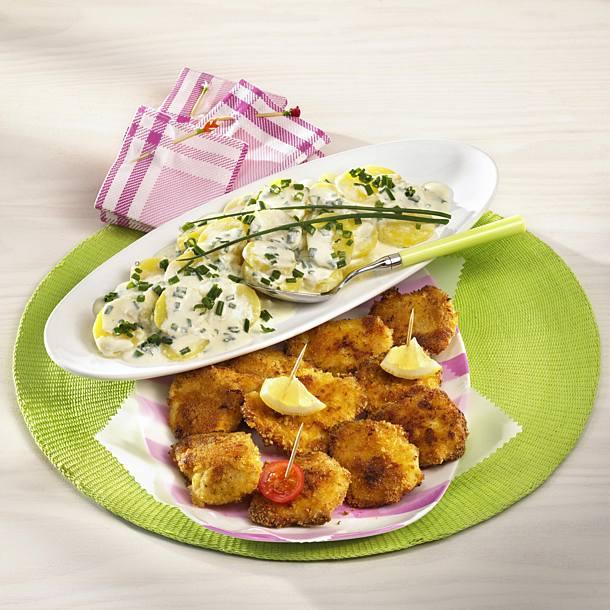 Chicken schnitzel from the sheet