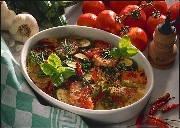 Provençal casserole with pork fillet