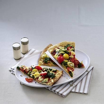 Quick spinach pizza