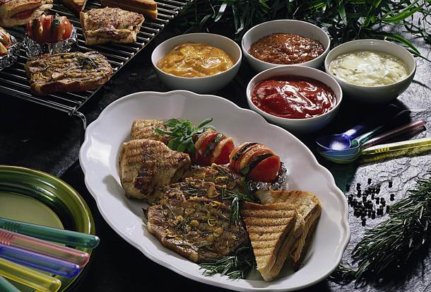 Colorful grill plate