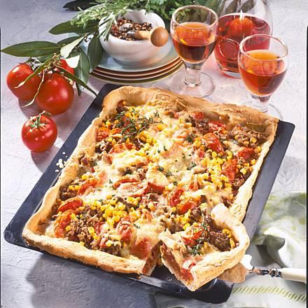 Juicy minced pizza