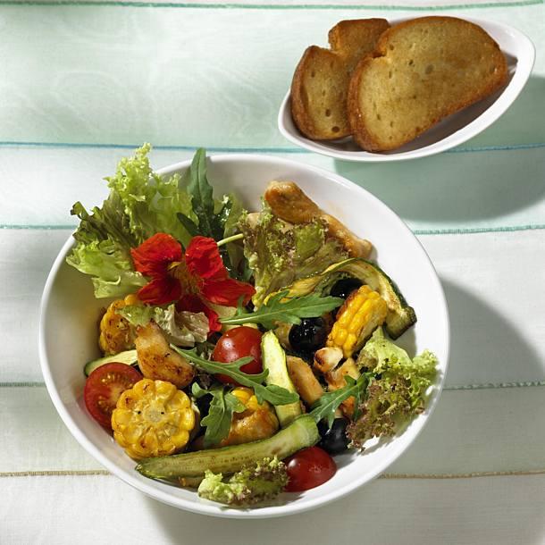 Warm Chicken Salad With Corn Recipe Delicious