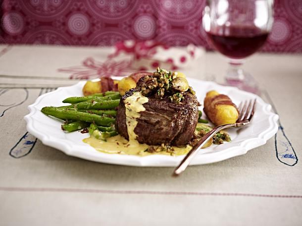 Beef fillet steak with Sauce Café de Paris