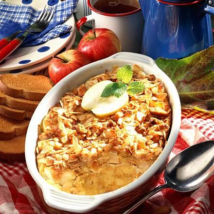 Apple and vanilla casserole