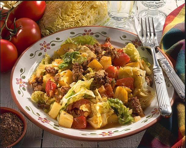 Savoy cabbage pan