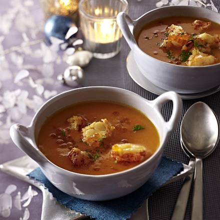Lobster soup (tied)