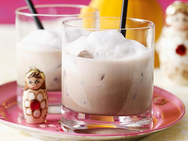 White Russian with foam