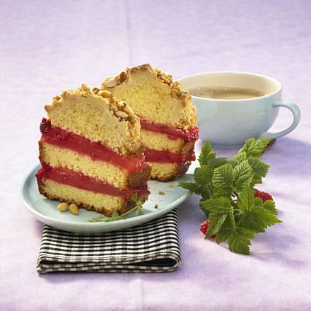 Campari mango sand cake with pine sprinkles