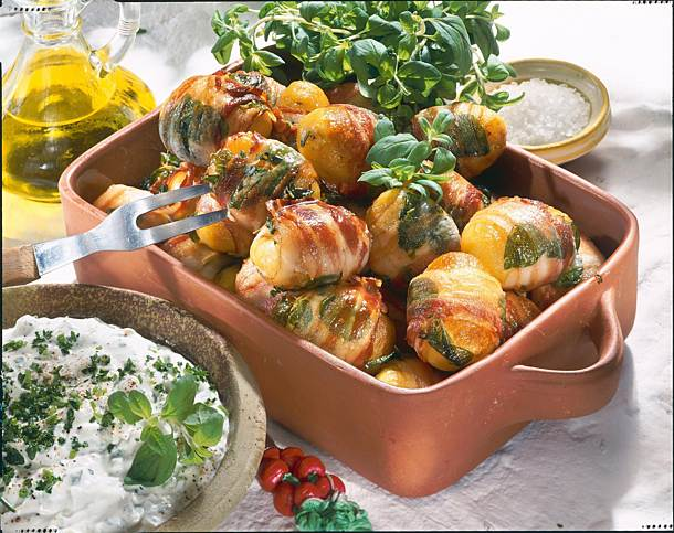 Bacon and marjoram potatoes
