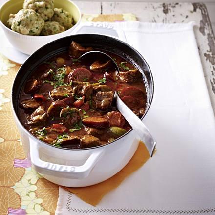 Paprika goulash with kabanossi